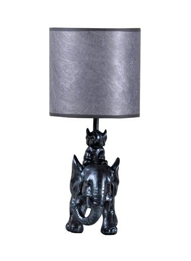 Qdec Modern Dizayn Fil Abajur   Gümüş